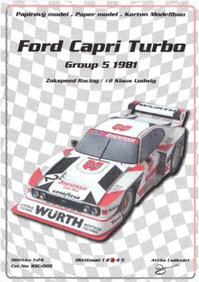 Ford Capri Turbo Gr.5 1981