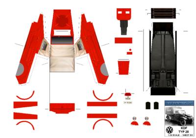 Maquette-papier-automobile-Kdf Typ 28