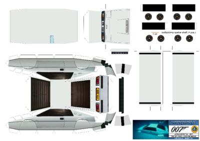 Maquette-papier-automobile-Lotus Esprit