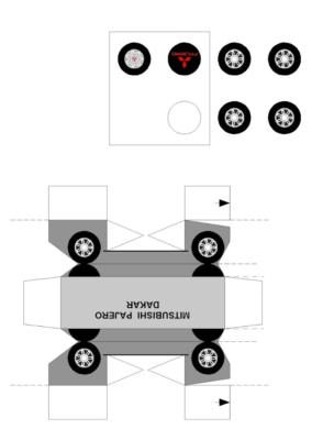 Maquette-papier-automobile-Mitsubishi-Pajero-Dakar2