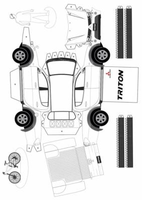 Maquette-papier-automobile-Mitsubishi-Triton