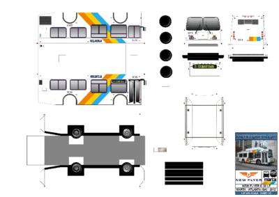Maquette-papier-automobile-New Flyer C30