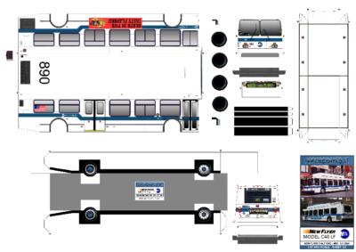 Maquette-papier-automobile-New York City Bus – New Flyer