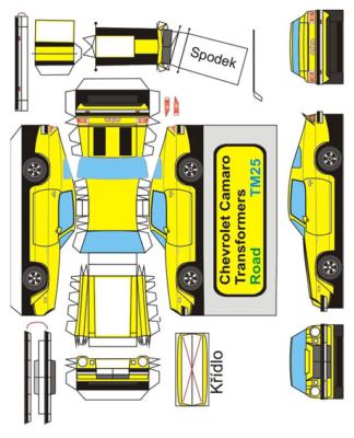 Maquette-papier-automobile-Shevrolet-Camaro-1