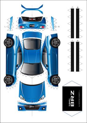 Maquette-papier-automobile-Subaru-BZR