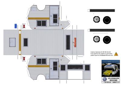 Maquette-papier-automobile-VW-Minihome