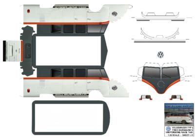 Maquette-papier-automobile-VW Race Taxi
