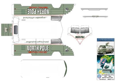 Maquette-papier-automobile-Vw North Pole