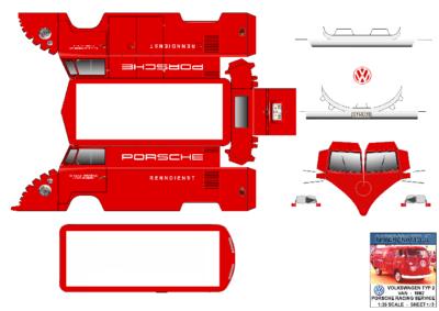 Maquette-papier-automobile-Vw Porsche