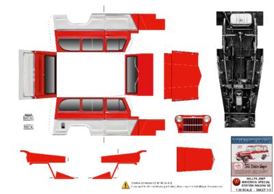 Maquette-papier-automobile-Willys SW