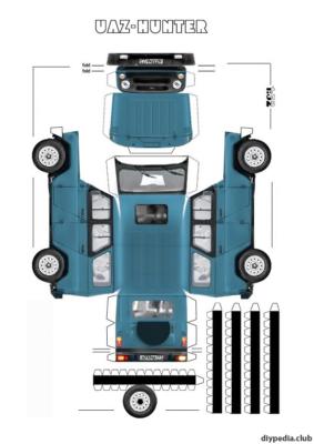 Maquette-papier-automobile-uaz