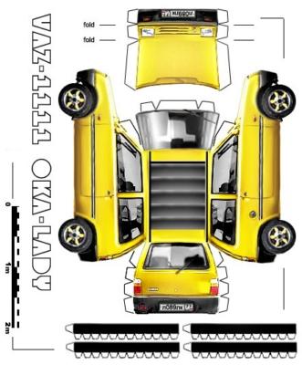 Maquette-papier-automobile-vaz-1111