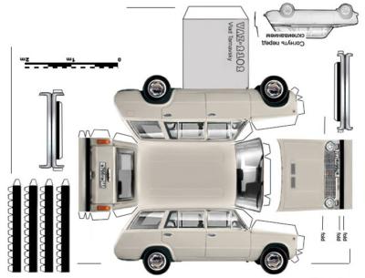 Maquette-papier-automobile-vaz-2102