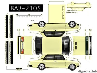 Maquette-papier-automobile-vaz-2105