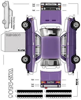 Maquette-papier-automobile-vaz-2106