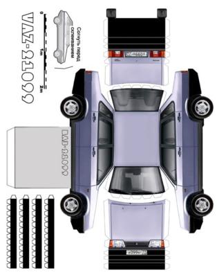 Maquette-papier-automobile-vaz-21099