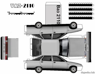 Maquette-papier-automobile-vaz-2110