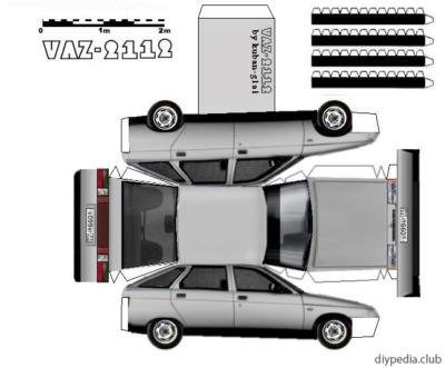 Maquette-papier-automobile-vaz-2112