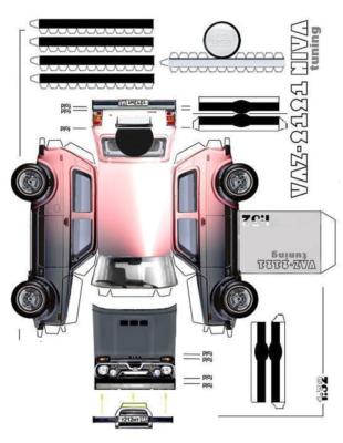 Maquette-papier-automobile-vaz-2121-tuning