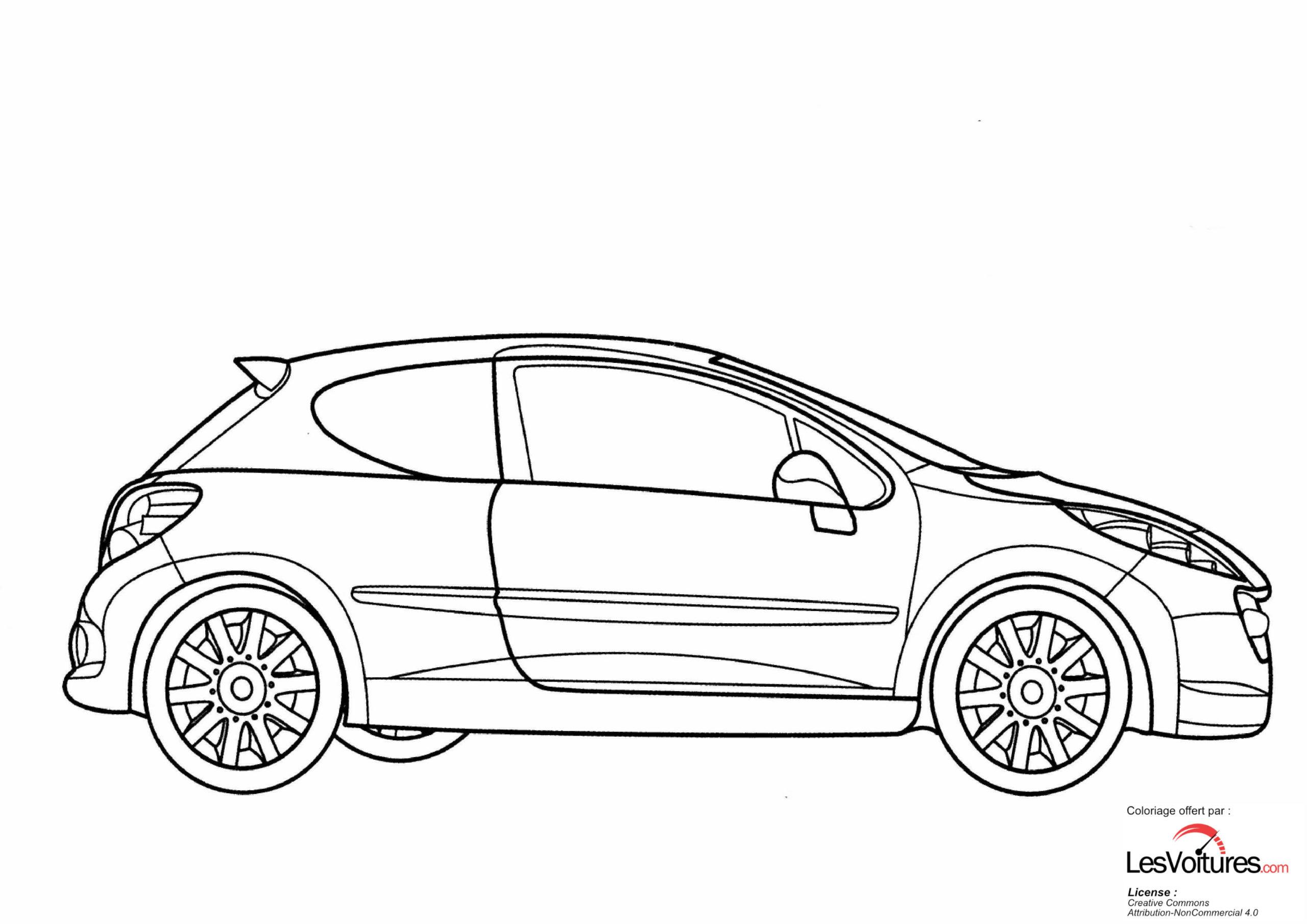 Peugeot-207-RC-coloriage-voiture | Les Voitures