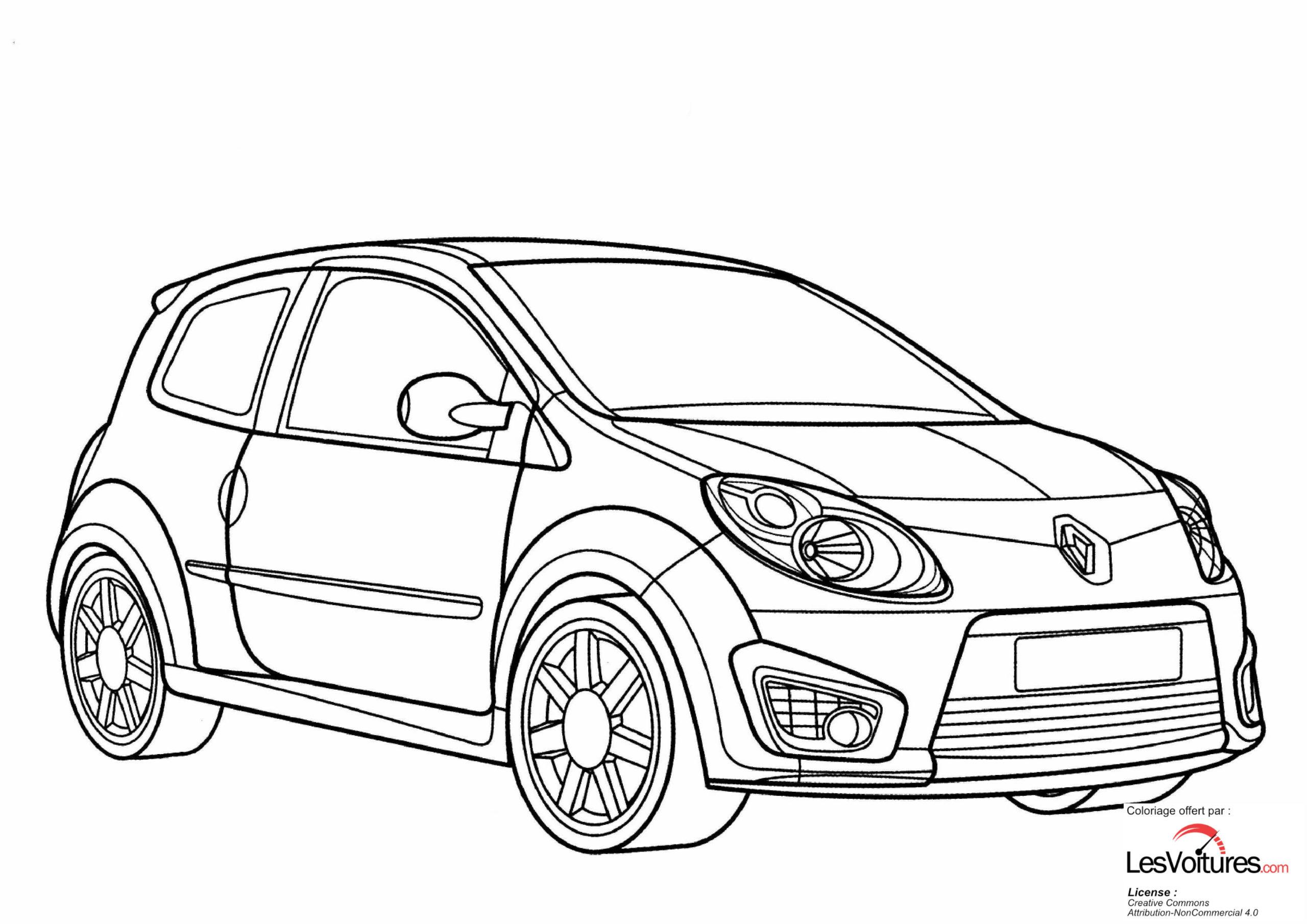renault twingo rs coloriage voiture les voitures