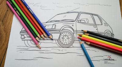 Voitures à colorier