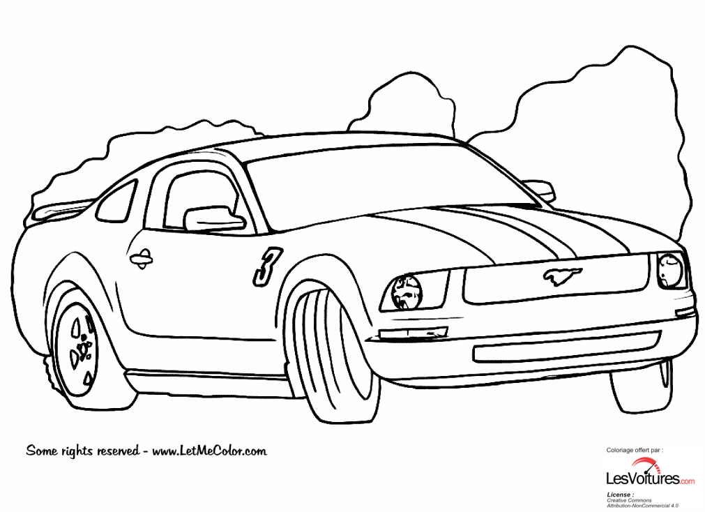 Ford Mustang Coloriage Voiture 2 Les Voitures