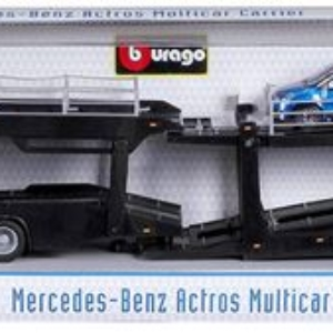 Camion Porte Vehi Bburago Street Fire Mercedes Benz 1:43 Modèle aléatoire