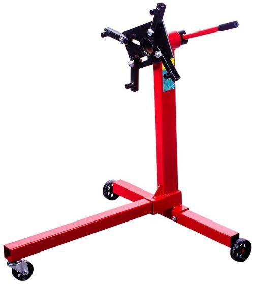 DCRAFT | Support moteur mobile 400 kg 3 roues | Support moteur sur roues | Platine pivotante 360° | Equipement garage automobile | Rouge