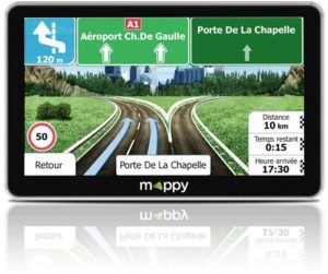 "GPS Mappy Maxi X755 Truck 7"" Europe 44 pays Noir"