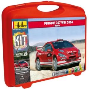 Maquette Peugeot 307 WRC 2004 + Piste Heller 60115 52 pièces