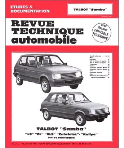 Revue technique automobile 422.4 Talbot Samba LS-GL-GLS-cabriolet-rallye