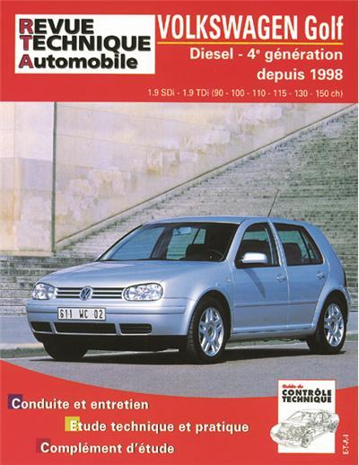 Revue technique automobile 622.2 Golf IV Diesel SDI TDI 90 à 150 CV 98/03