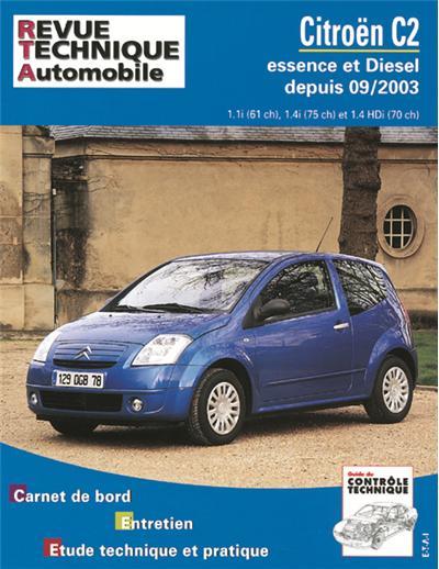 Revue technique automobile 684.1 Citroën C2 essence et Diesel depuis 09/03