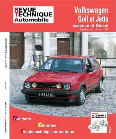 Revue technique automobile 719.1 VW Golf et Jetta II E-D et TD (84-92)