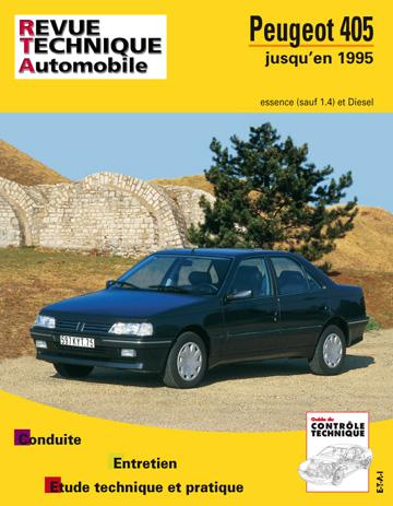 Revue technique automobile 726.2 Peugeot 405 E&D (87/97) TD fin de fabrication