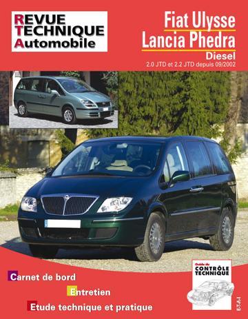 Revue technique automobile 863.2 Fiat Ulysse, Lancia Phedra