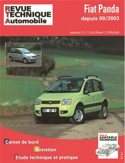 Revue technique automobile B706.5 Fiat Panda/4X4 09/03> ES.1.1/1.2 Diesel 1.3