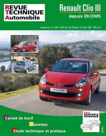 Revue technique automobile b702.5 Clio III