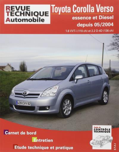 Revue technique automobile b705.6 Corolla Verso