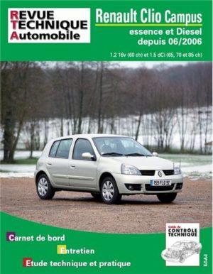 Revue technique automobile b726.5 Clio II campus