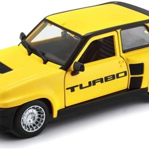 Véhicule Bburago Renault 5 Turbo 1:24 Jaune