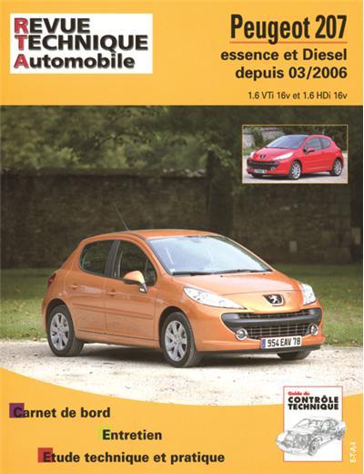 Revue technique automobile B711.5 Peugeot 207 ES 1.6V/Diesel 1.6 HDI