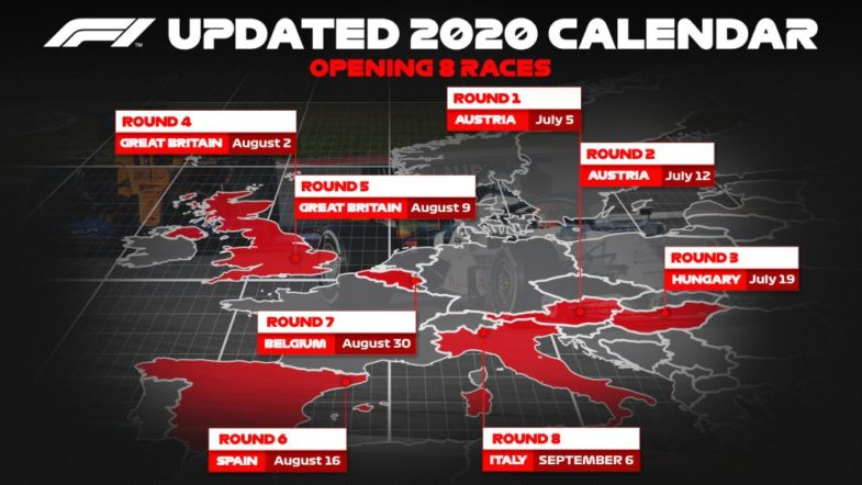 calendrier F1