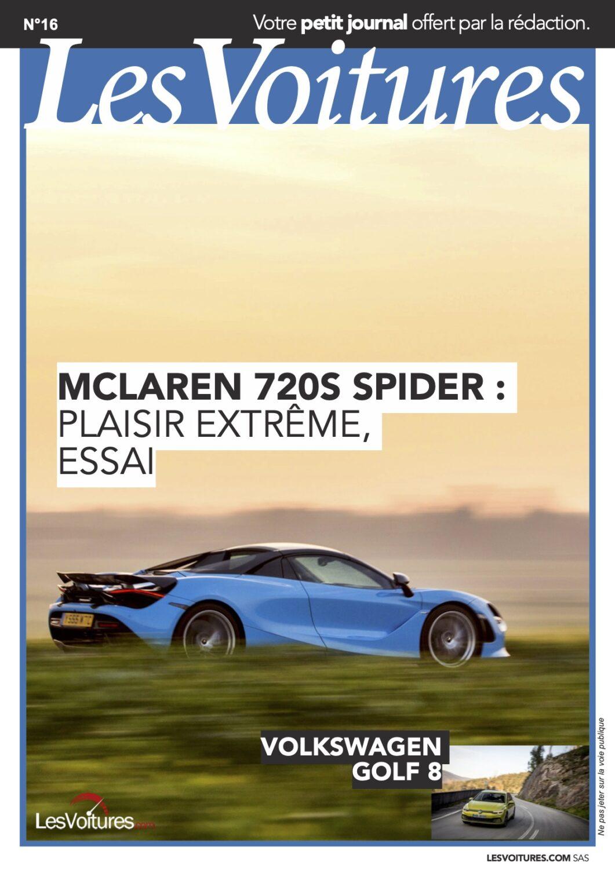 16 – McLaren 720s Spider et Volkswagen Golf 8