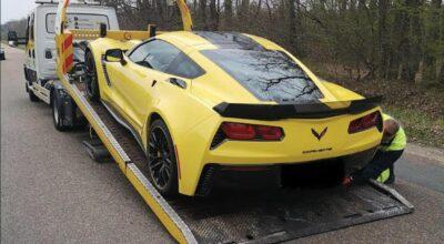 grand excès de vitesse Chevrolet Corvette C7 Z06 Loiret