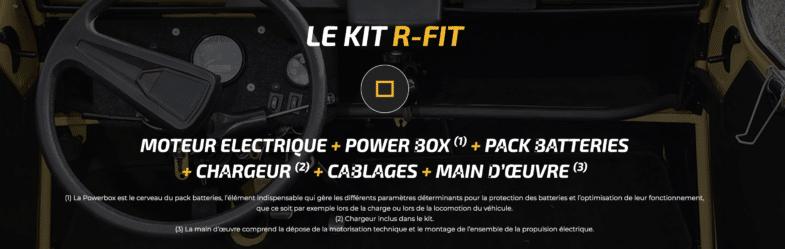 Citroen 2CV électrique R-FIT Rétrofit