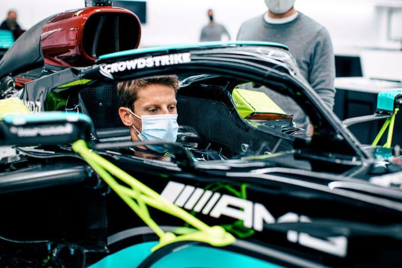 Romain Grosjean GP de France Mercedes F1