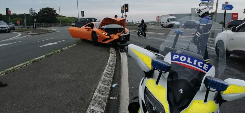 course poursuite Lamborghini Huracan