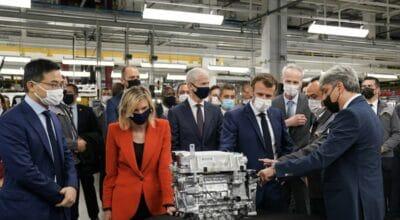 Emmanuel Macron Renault Douai ElectriCity